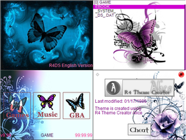 NDS Theme: Blue Butterfly by winter-fall