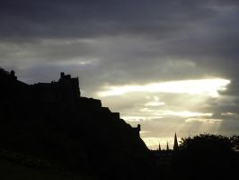 Edinburgh Castel at sunset by davidfriedrich