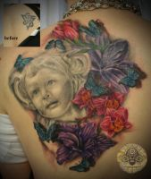 Daughter Portrait Flower 2.ses by 2Face-Tattoo
