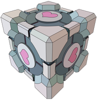 Companion Cube Vector by CoffeeDaze