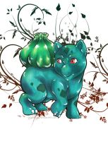 001 Bulbasaur by TrippinDippy