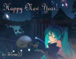 HAPPY NEW YEAR MIKU by Wirm22