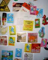 Smurf hunter's fridge magnets by UncleGargy