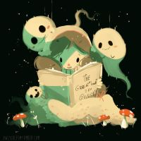 Ghost reading by Owlyjules