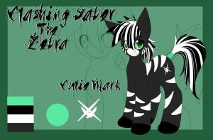 Clashing Saber The Zebra Ref by TurquoiseWolfStar7