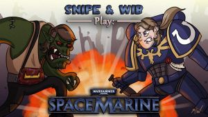 Space Marine Title Card by wibblethefish
