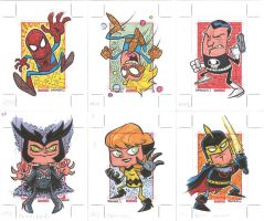 MARVEL UNIVERSE 2014 #043-048 by thecheckeredman