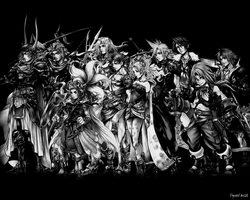 Dissidia Wallpaper: Good BW by DymedAnGel