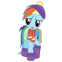 Rainbow Dash Vector (Tanks for the memories) by Sol-Republica
