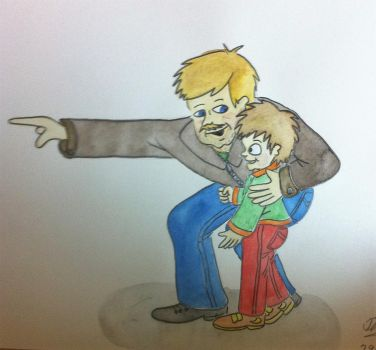 Father and son by Drawing-Count