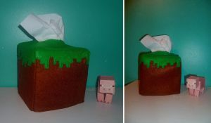 Grass block tissue box by Kenshart