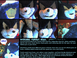 Werehog fursuit_head_Compleeted by f-sonic