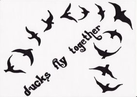 Ducks fly together by Living-Life-Loud