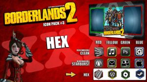 Borderlands2 Icon Pack3 - HEX by mentalmars