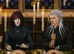 Commission_Vincent and Xemnas by BlackBirdInk