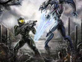 Spartan vs Elite by Gallardose