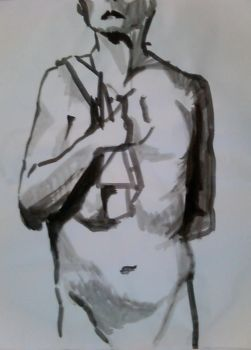 figure drawing 6. summer '11 by uglyducky