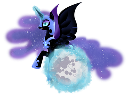 Nightmare Moon by EmeraldParrot