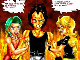 The fight over Vegeta by YamchaFan91