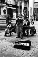 Street Musicians by LoonyHermione