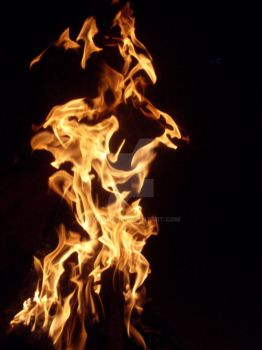 Human made up of flame by parishad
