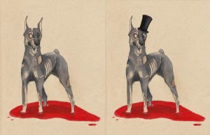 Dapper Undead Doberman by MyRobotBee