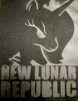 Lunar Republic Propaganda on Canvas by usernameirrelevant