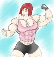 Muscular Red Head by AdrianGantz