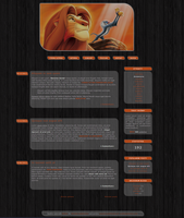 Blogspot template Lion King by MySensitiveHeart