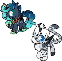.::Commission::. Chibi Crystal and Tamara by FrozenStar37615