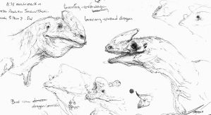 Guanlong sketches by LindseyWArt