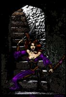 Bryony Guarding the Stairs by Syreene