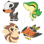 Pokecon Stickers: 2 by CoffeeCupPup