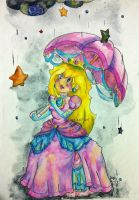 Princess Peach in Watercolors by BratMax