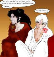 Naraku and Sesshomaru dressup by neffinesse
