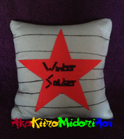 Pillows: Winter Soldier by AkaKiiroMidoriAoi