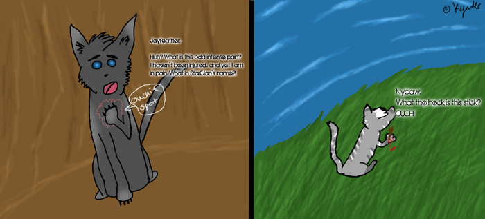 Ivypaw and Jayfeather - Umm.. by whiteh-is-me