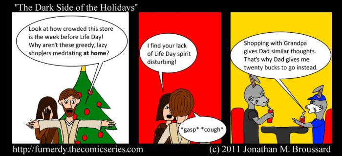 The Dark Side of the Holidays by AelfricElf