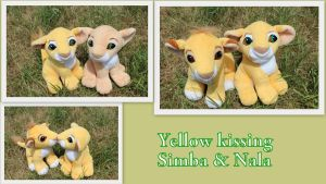 Yellow Kissing Simba and Nala by Laurel-Lion