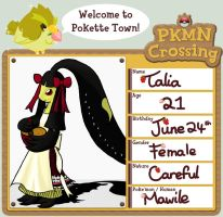 PKMN-Crossing App. - Talia by Nalico