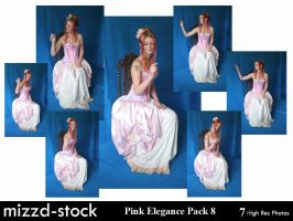 Pink Elegance Pack 8 by mizzd-stock