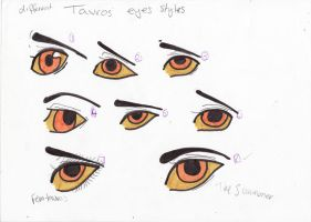 different tavros eye styles colour by kimmyragefire