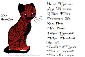 Tigermoon Reference Sheet! by XBloodyNightmaresX