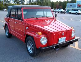 Red VW Thing by Ripplin