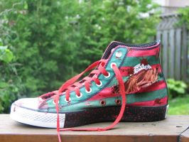 Nightmare on Elm Street Custom Converse by GilliganFonzarelli