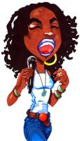 Lauryn Hill Caricature by WarBrown