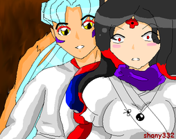 shany and inuyasha's dad by sSflowerSs