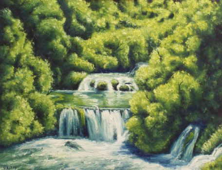 Stepped Waterfalls by mp2015