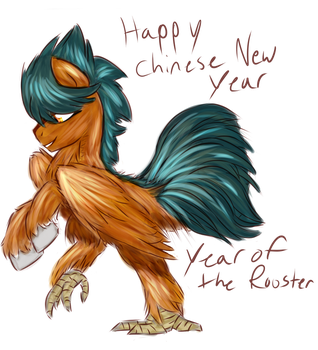 Year of the Rooster Hippalectryon by TheRebelPhoenix