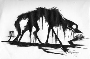 Oil Wolf Back Peice by LittleSkrillexKid